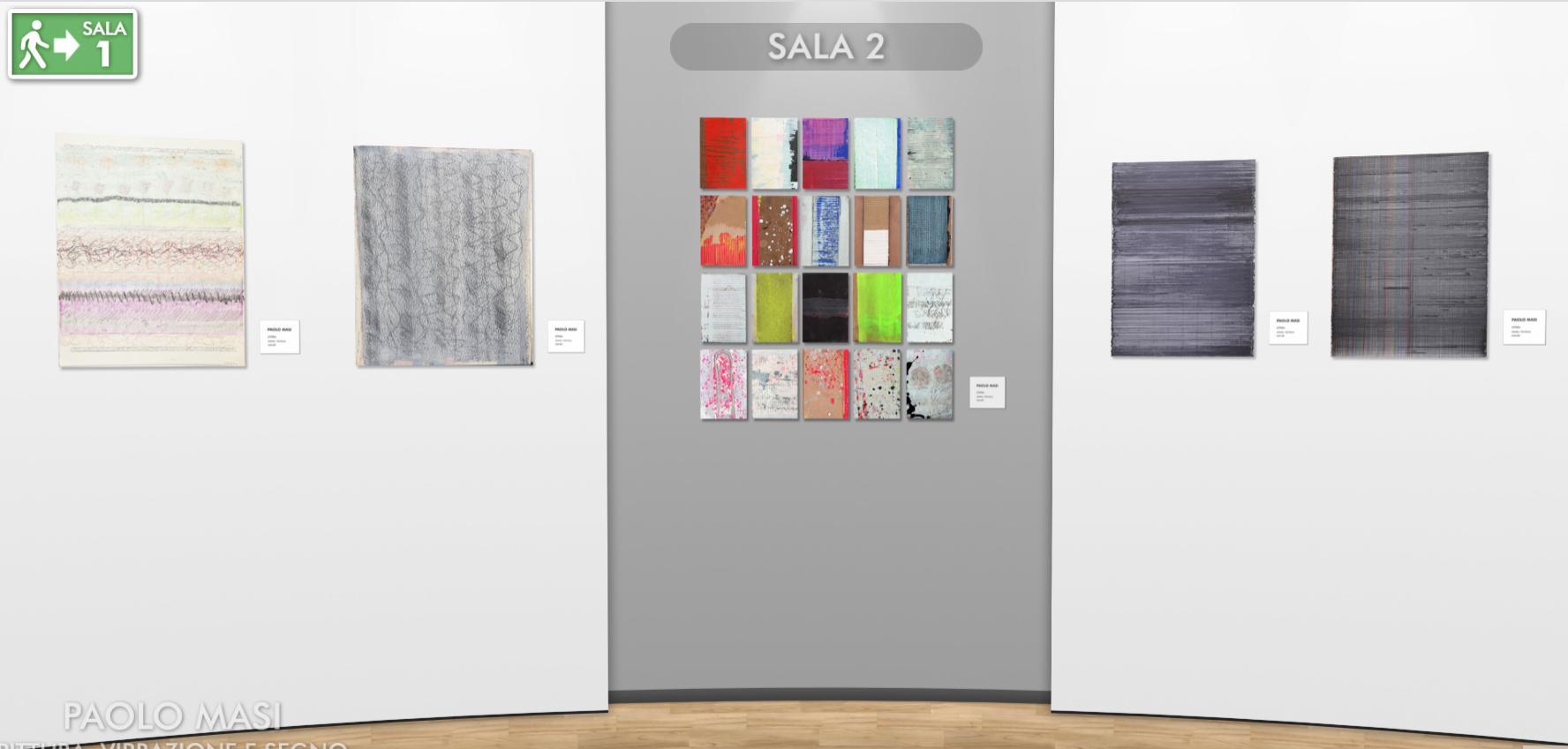 Paolo Masi. Pittura, vibrazione e segno. 60 anni di ordinata casualità. Allestimento inedito e mostra virtuale