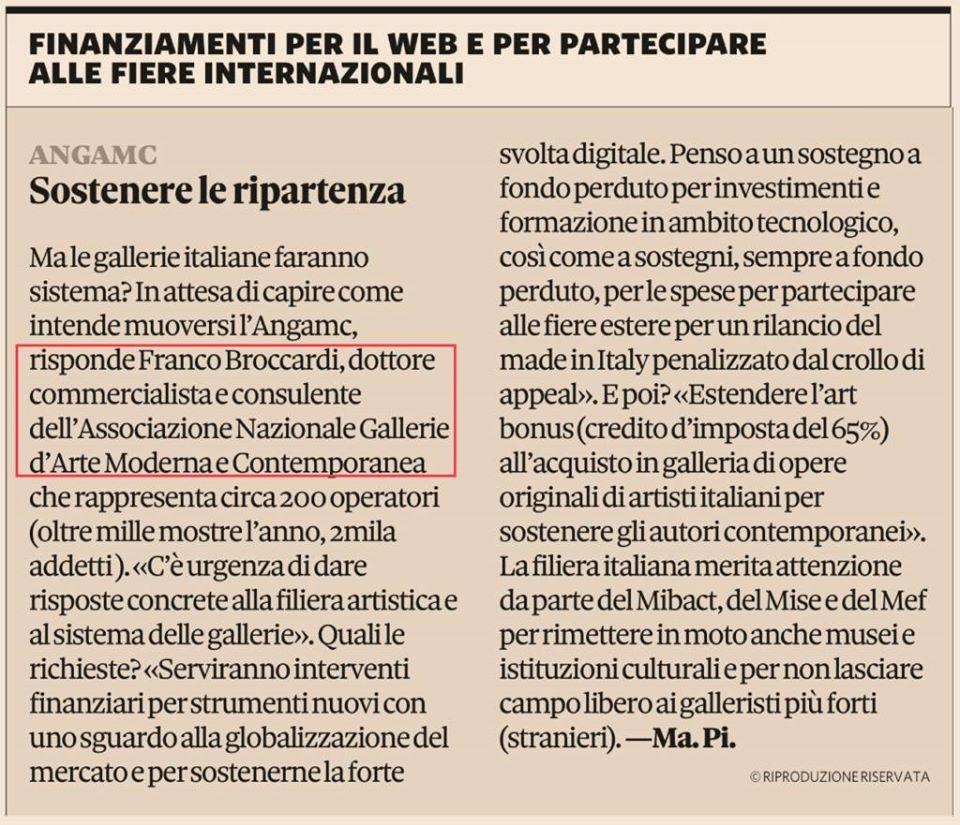 GALLERIE ALLO STREMO, SOS PER L'ARTE ITALIANA
