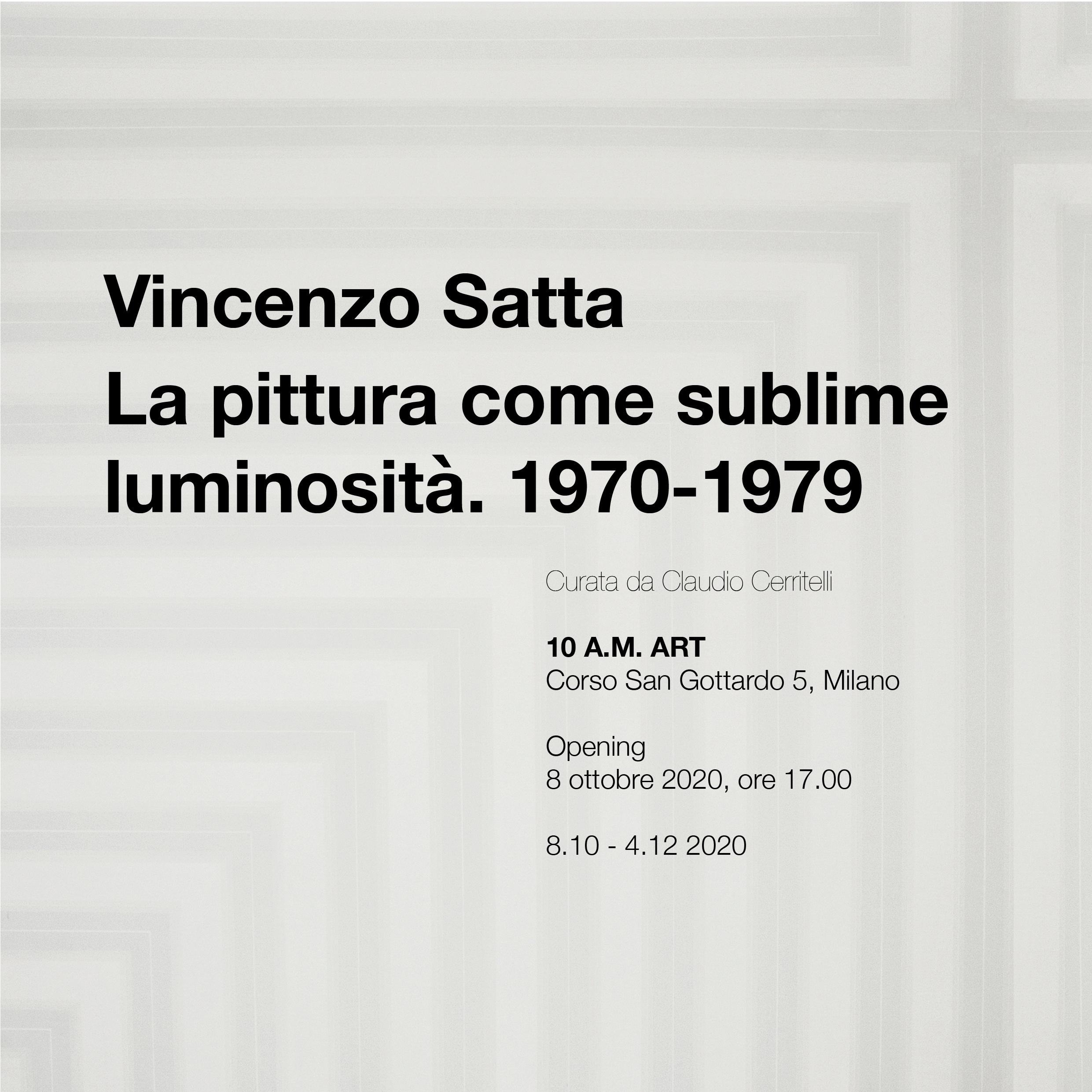 Vincenzo Satta. La pittura come sublime luminosità. 1970-1979