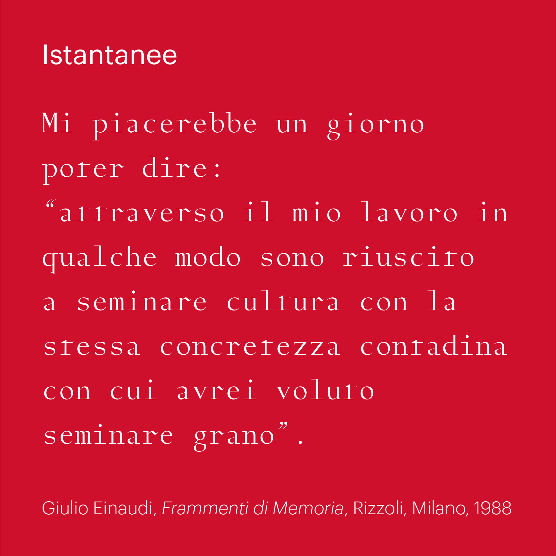 Istantanee – 25 years
