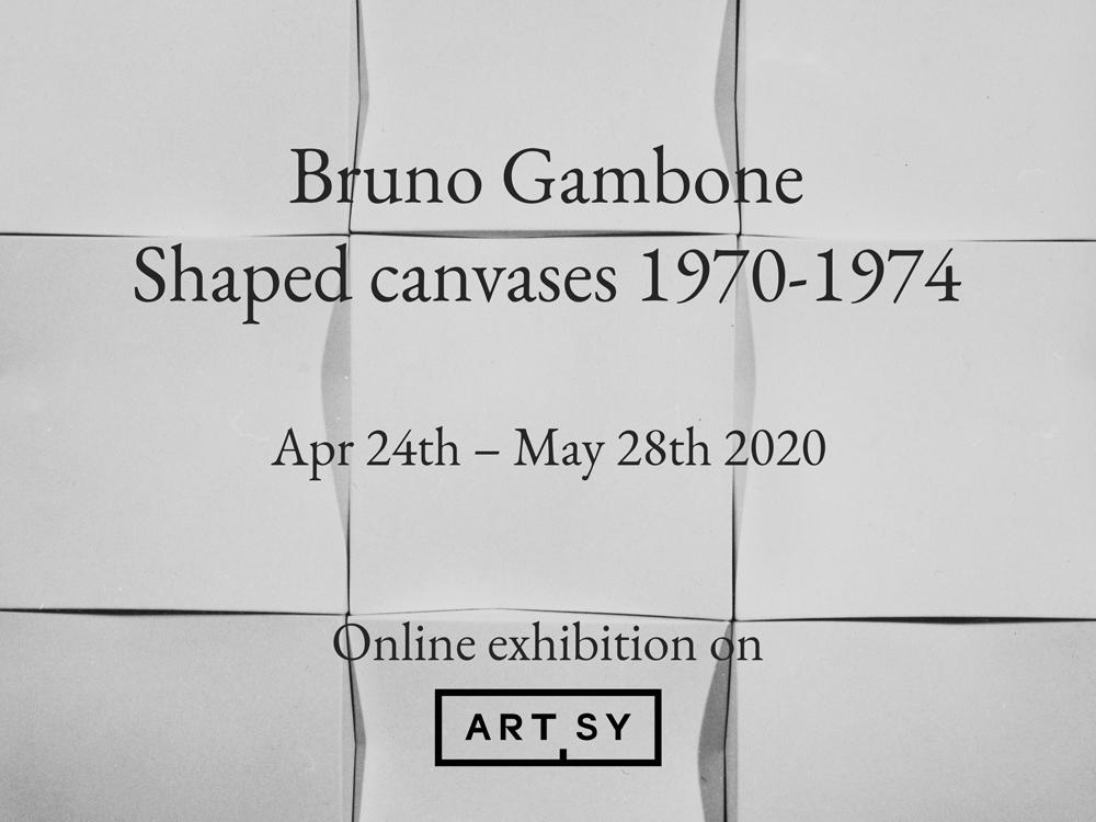 Bruno Gambone. Shaped canvases 1970-1974