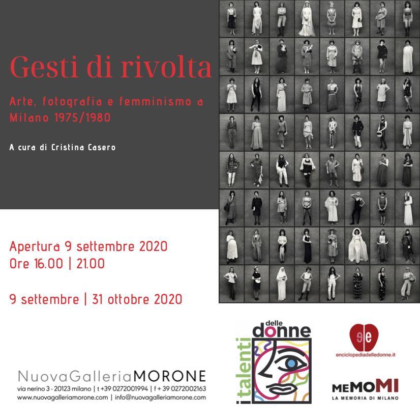 GESTI DI RIVOLTA. Arte, fotografia e femminismo a Milano 1975-1980