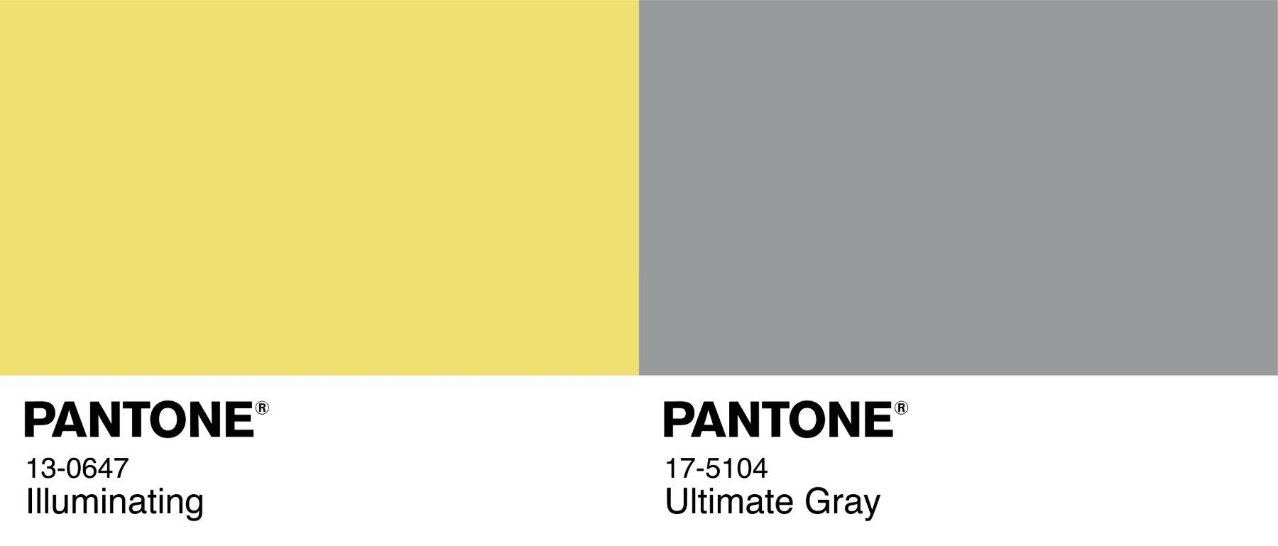 COLOR OF THE YEAR Illuminating Yellow Ultimate Gray