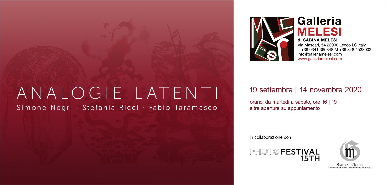 Analogie Latenti Simone Negri, Stefania Ricci, Fabio Taramasco
