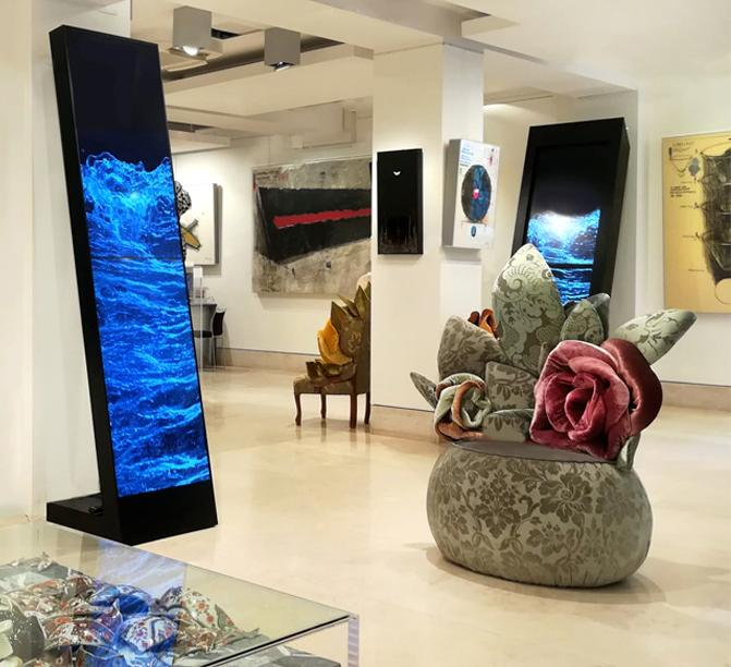 Carla Tolomeo e Fabrizio Plessi: Due modi di creare Arte