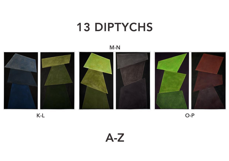David Tremlett - 13 Diptychs | Room 5 - Wall Drawing