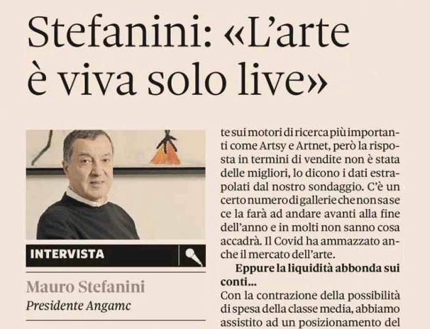 IL SOLE 24 ORE INTERVISTA IL PRESIDENTE ANGAMC MAURO STEFANINI